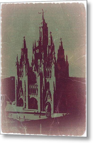 Tibidabo Barcelona Metal Print