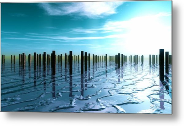 Tide Is Out... Metal Print