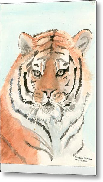 Tiger 1 Metal Print by Delores Swanson