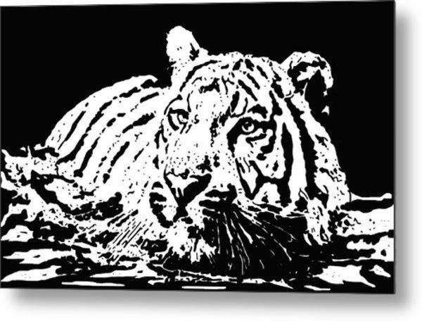 Tiger 2 Metal Print by Lori Jackson