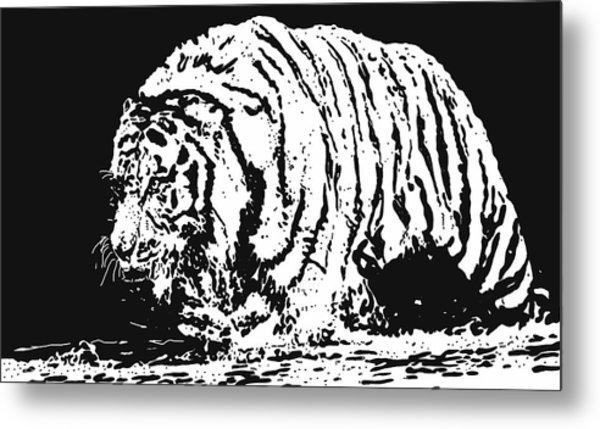 Tiger 3 Metal Print by Lori Jackson