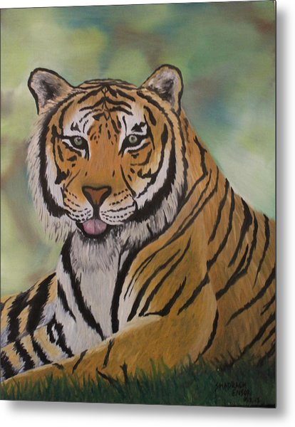 Tiger Metal Print by Shadrach Ensor