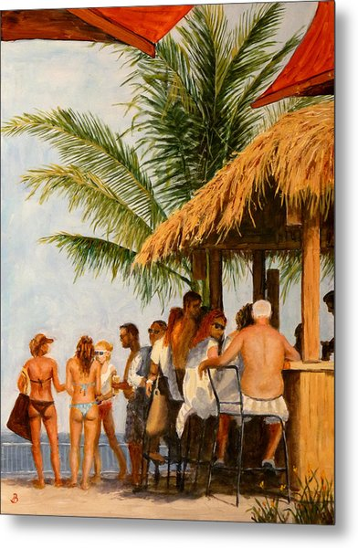 Tiki Bar Metal Print