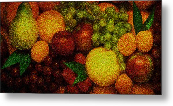 Tiled Fruit  Metal Print