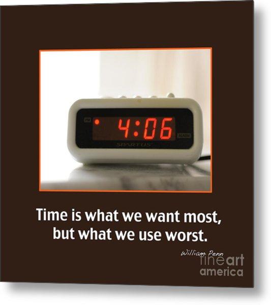 Time 2 Metal Print by Nancy Greenland