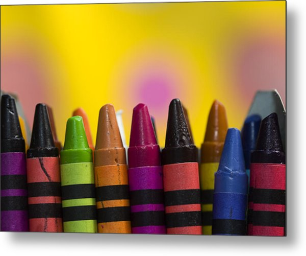 Time To Color Metal Print by Trudy Wilkerson