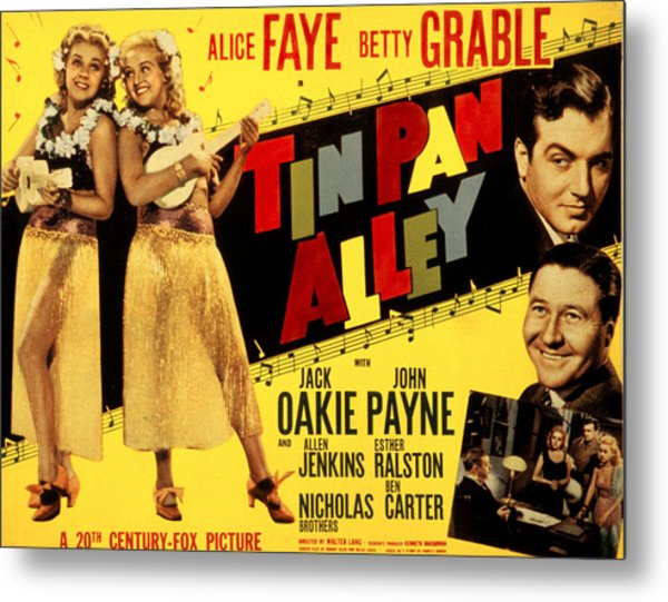 Tin Pan Alley, Alice Faye, Betty Metal Print
