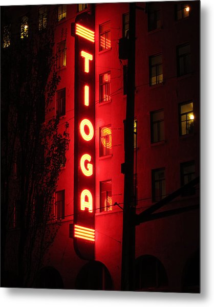 Tioga Hotel In Coos Bay Oregon Metal Print by Gary Rifkin