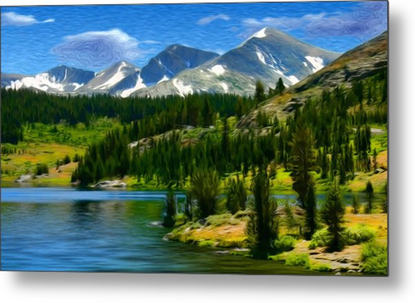 Tioga Lake Frank Lee Hawkins Metal Print