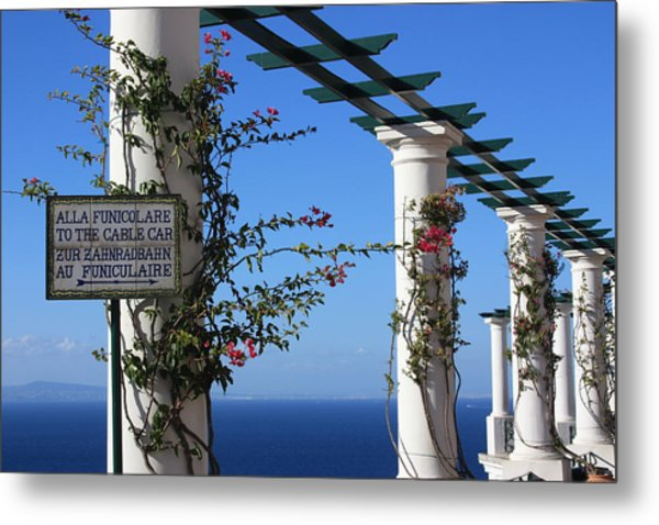 To The Funicolare Metal Print by Andrea Lucas