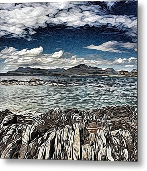 Tokavaig To The Black Cuillins Metal Print