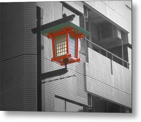 Tokyo Street Light Metal Print