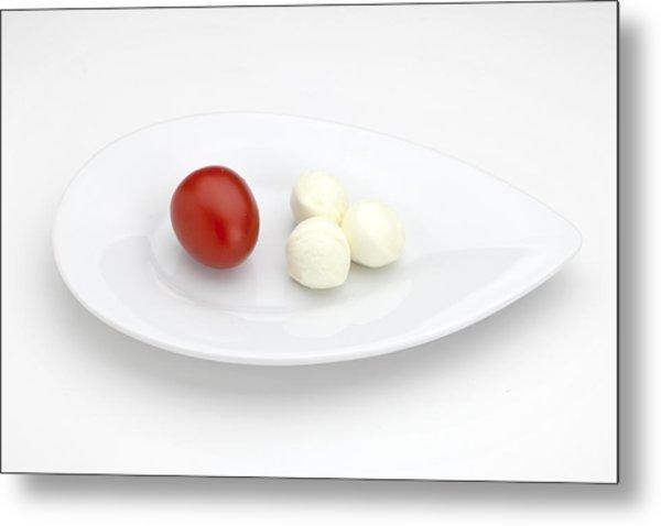 Tomato Mozzarella Metal Print