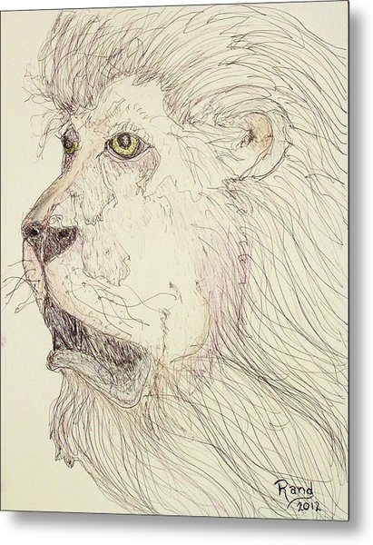 Tonight The Lion Will Not Sleep Metal Print