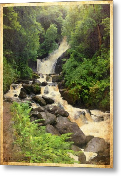 Torc Waterfall In Ireland Metal Print