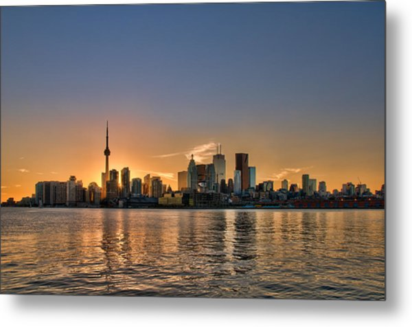 Toronto At Sunset Metal Print