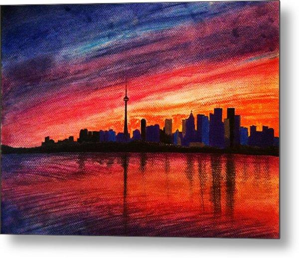 Toronto Skyline Metal Print by Fariz Kovalchuk