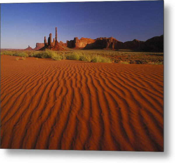 Totem Pole Rocks, Monument Valley Metal Print by Brian Lawrence