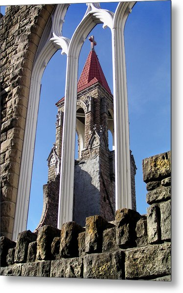 Tower Through The Window Metal Print
