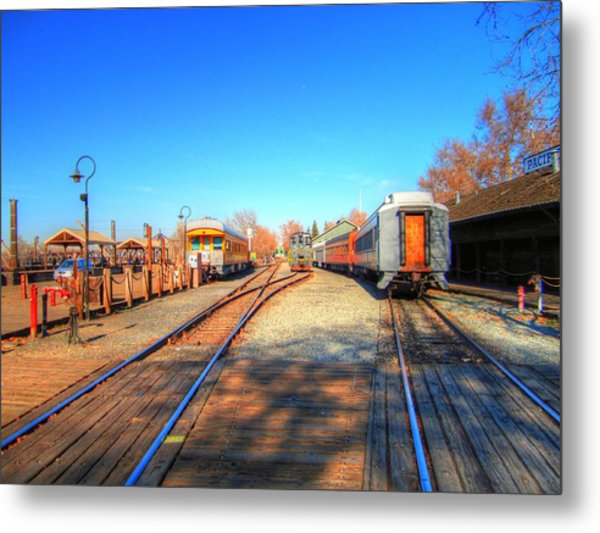 Tracks Along The River-hdr Metal Print by Barry Jones