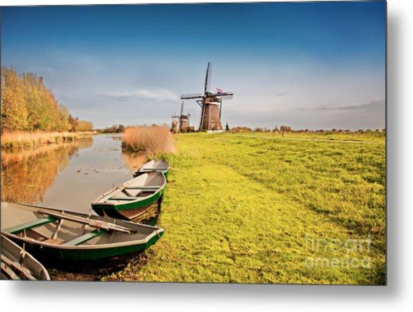 Traditional  Dutch Landscape Metal Print