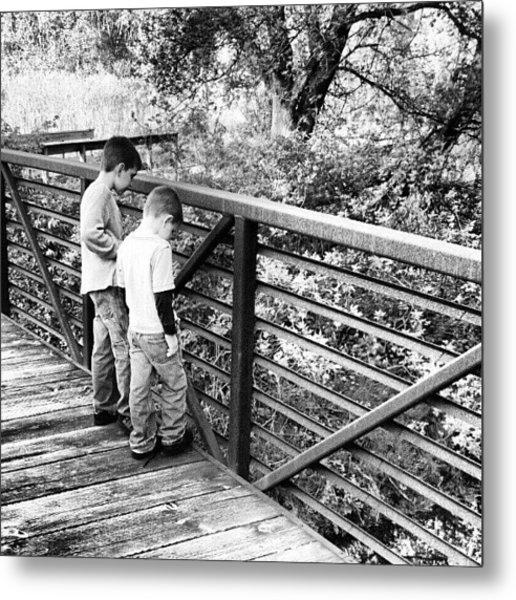 #trail #park #brothers #bridge #inkwell Metal Print