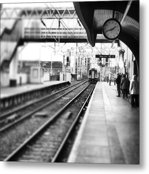 #train #trainstation #station Metal Print