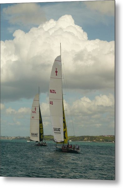 Training On The Harbour Metal Print by Amy Jayne Roper