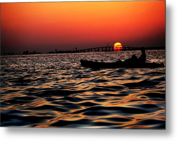 Tranquil Sea Metal Print