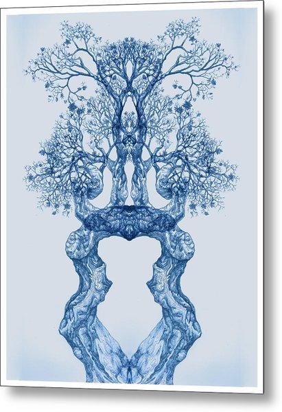 Tree 14 Blue 2 Metal Print