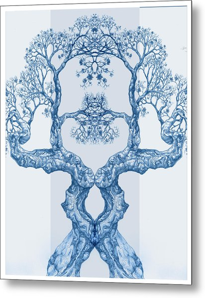 Tree 14 Blue 6 Metal Print