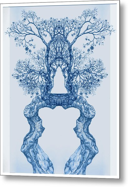 Tree 14 Blue 8 Metal Print