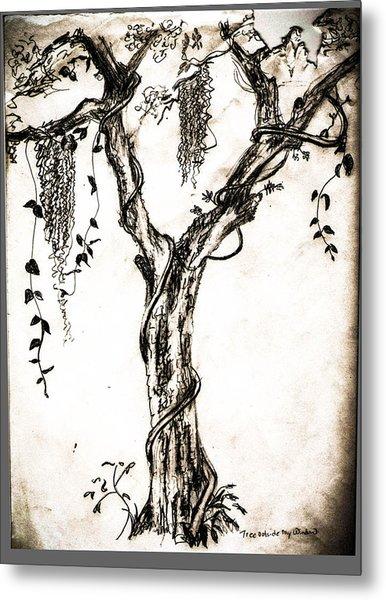 Tree Outside My  Metal Print