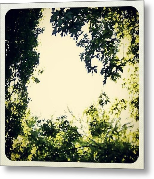 #trees #green #sky #pattern #style Metal Print by My Mcwp