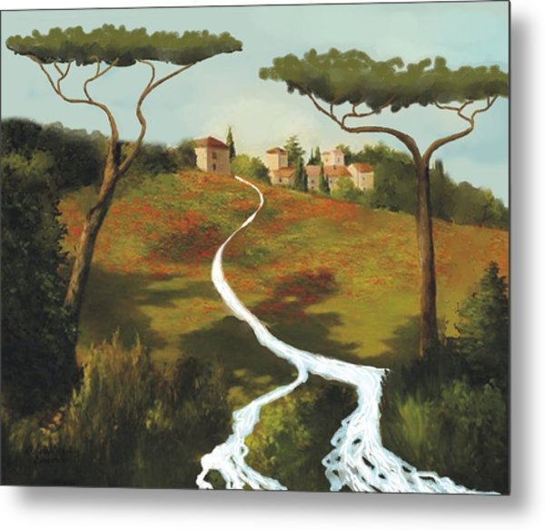 Trees Of Tuscany Metal Print