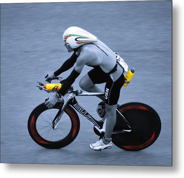 Triathlon Man Metal Print