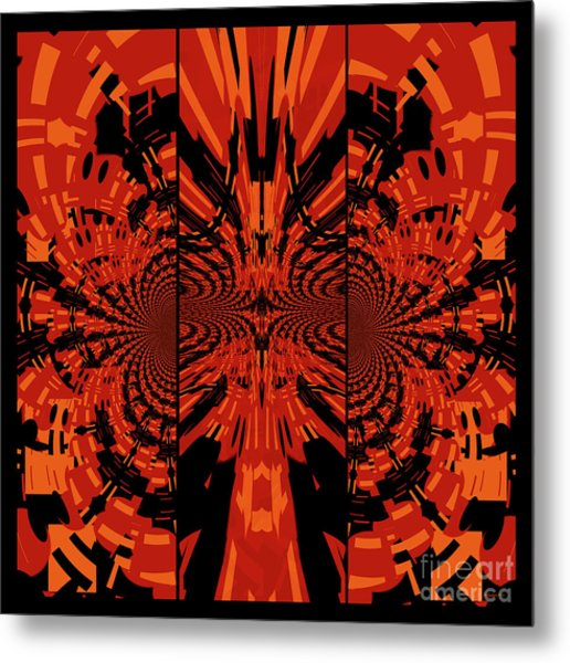 Tribal Lion Metal Print