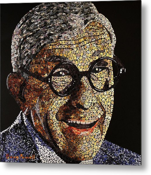 Tribute To George Burns Metal Print