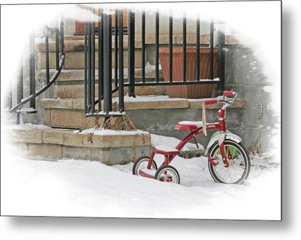 Tricycle Metal Print by Judy Deist