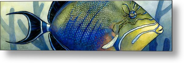 Triggerfish Metal Print by Alyssa Parsons
