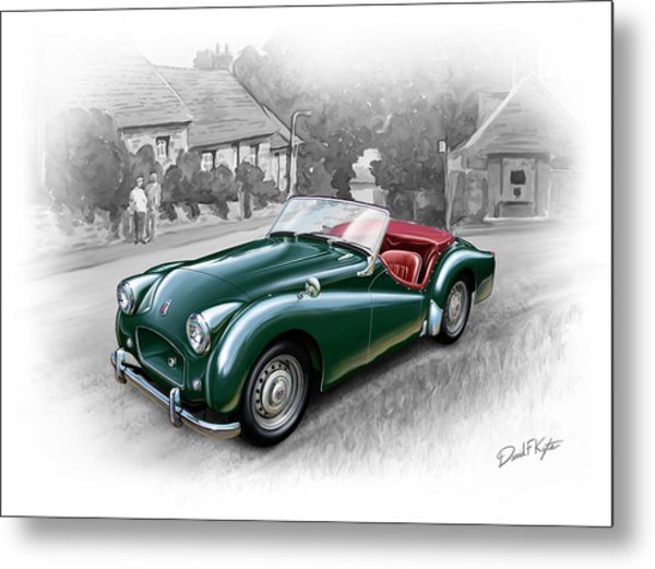 Triumph Tr-2 Sports Car Metal Print