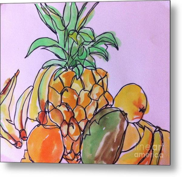 Tropical Snack Metal Print
