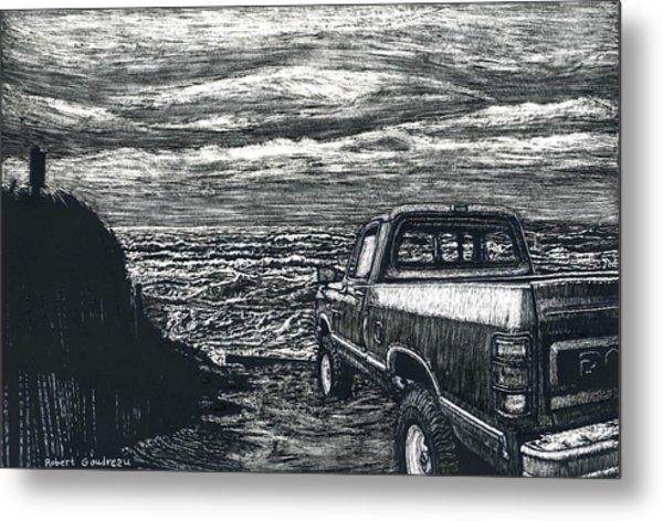 Truck At Nantucket Metal Print by Robert Goudreau