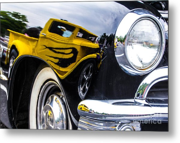 Truck Reflection Metal Print by Ursula Lawrence