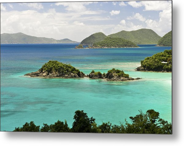 Trunk Bay St John  Metal Print