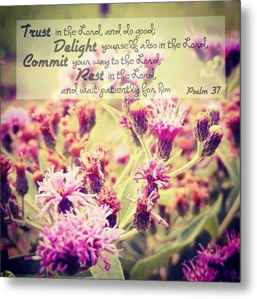 Trust, Delight, Commit, Rest. Simple As Metal Print