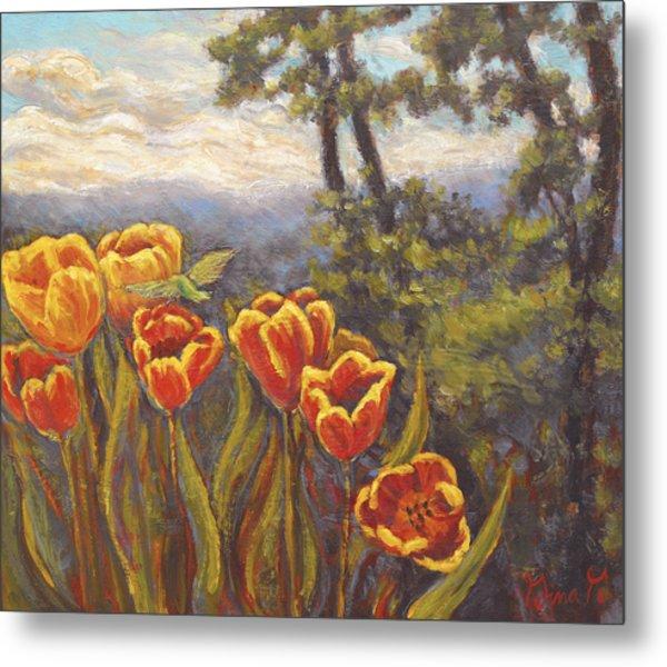 Tulip Vista Metal Print