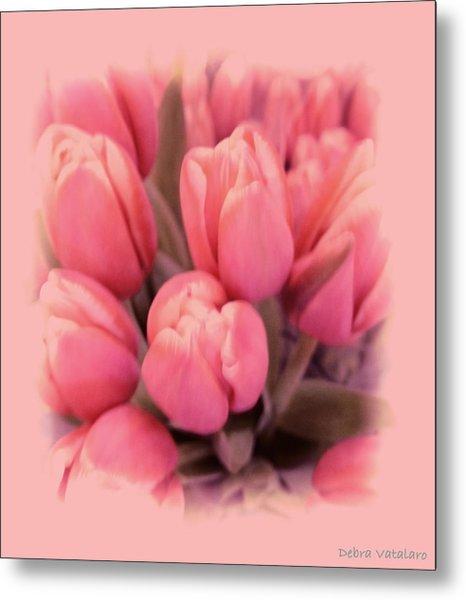 Tulips Splash Metal Print by Debra     Vatalaro