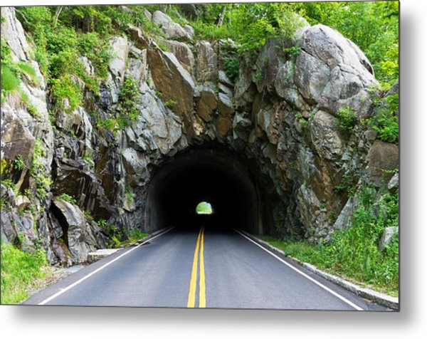 Tunnel On A Lonely Road Metal Print
