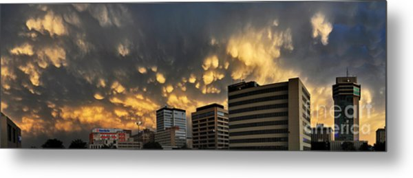 Turbulent City Metal Print